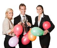 Business team selebrating success Royalty Free Stock Photos