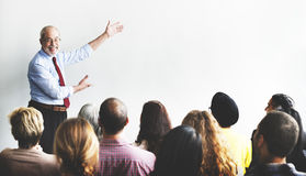Business Team Seminar Listening Meeting Concept Stock Photos
