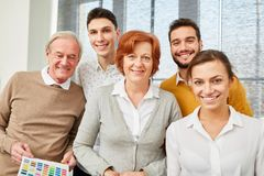 Business team with senior businessman royalty free stock photos