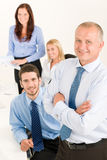 Business team senior manager with happy colleagues Royalty Free Stock Photo
