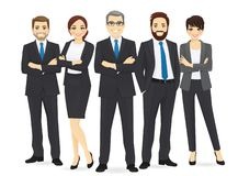Business team set. With leader isolated vector illustration stock illustration