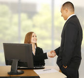 Business Team Shake Hand In Modern Office Royalty Free Stock Images