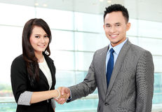 Business team shaking hands Royalty Free Stock Image