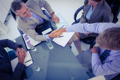 Business team shaking hands at meeting Royalty Free Stock Photo