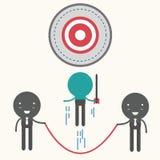 Business team shooting target ,illustration . Royalty Free Stock Photos