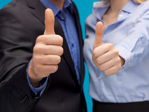 Business team showign thumbs up Royalty Free Stock Photos