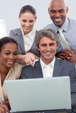 A business team showing ethnic diversity Royalty Free Stock Photo
