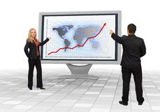 Business team showing financial growth Stock Image