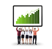 Business team showing growth graph Stock Images