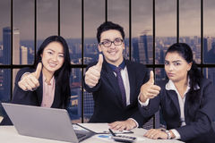 Business team showing ok Stock Photos
