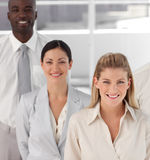 Business team showing Spirit Stock Image
