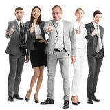 Business team showing thumb up Stock Photography