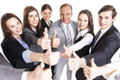 Business team showing thumb up Royalty Free Stock Photo