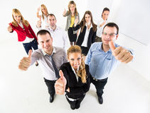 Business team Showing Thumbs Up Stock Image