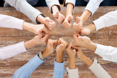 Business team showing thumbs up Royalty Free Stock Image