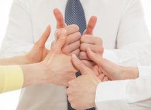 Business team showing  thumbs up Royalty Free Stock Photo