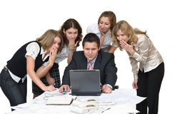 Business team shudder with horror Stock Photos