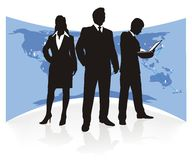 Business team, silhouette Stock Photos