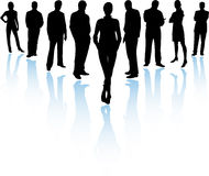 Business Team in Silhouette Stock Photography