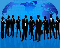 Business Team silhouette royalty free illustration