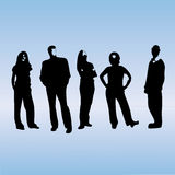 Business Team Silhouette. A scalable vector illustration of a creative business team silhouette stock illustration