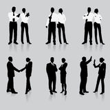 Business Team Silhouette Collection stock illustration