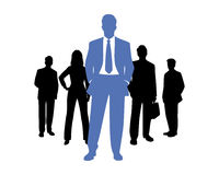 Business team silhouette Royalty Free Stock Photos