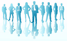 Business team silhouettes Royalty Free Stock Image