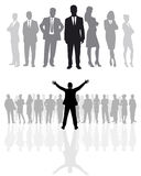 Business team silhouettes Stock Image