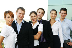 A business team of six young persons Stock Photo