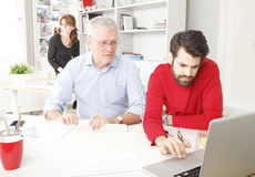 Business team in small architect studio Royalty Free Stock Images