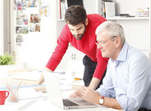 Business team in small architect studio Stock Image