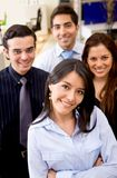 Business team smiling Stock Image
