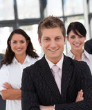 Business team smiling Royalty Free Stock Image