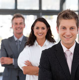 Business team smiling Stock Photography