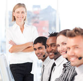 Business team smiling Stock Photo