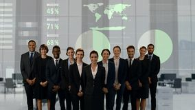 Business team smiling stock video