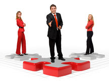 Business team and solutions Royalty Free Stock Photos