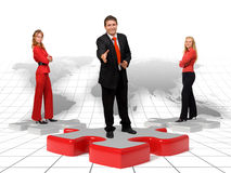 Business team and solutions - world Royalty Free Stock Image