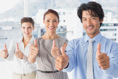 Business team standing all together Royalty Free Stock Image