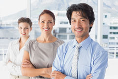 Business team standing all together Stock Image