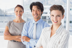 Business team standing all together Royalty Free Stock Photo