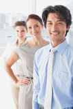 Business team standing all together Royalty Free Stock Photos