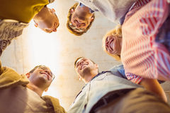 Business team standing in circle Royalty Free Stock Photos