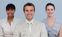 Business team standing in front of the camera Royalty Free Stock Image