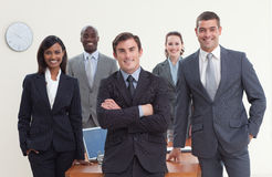 Business team standing in a meeting Stock Photos
