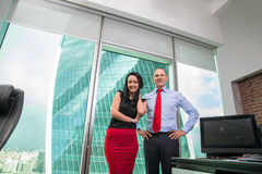 Business team standing in office . Royalty Free Stock Photos
