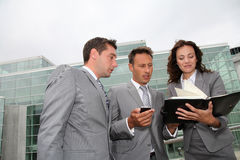 Business team standing outside Royalty Free Stock Photography