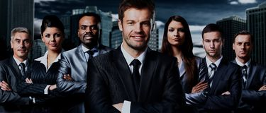 Business team standing Stock Photos