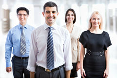 Business team standing in a row Royalty Free Stock Image